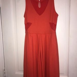 Soprano Orange Dress with Cut Outs